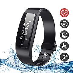 Idea Regalo - DBPOWER Fitness Tracker, Tracker attività Orologio Fitness con Monitor Sonno e Frequenza Cardiaca, IP67 Braccialetto Impermeabile con Pedometro, Localizzatore GPS, per Smartphone Android iOS