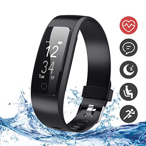 DBPOWER Fitness Tracker, Tracker Attività Orologio Fitness con Monitor Sonno e Frequenza Cardiaca, IP67 Braccialetto Impermeabile con Pedometro, Localizzatore GPS, per Smartphone Android IOS