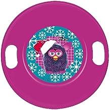 """JOHN El OVNI trineo plástico """"Furby"""" trineo de esquí, rosa"""