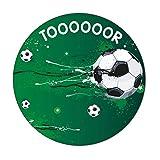 Mauspad im Fußball-Design I Ø 22 cm rund I Mousepad in Standard-Größe, rutschfest I für, Jungs cool I dv_655