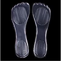 Semelles de gel haut talon, coussin de massage pour le soulagement de la douleur, coussinets en silicone souple, longueur: 21cm (transparent)