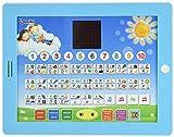 """Tablet Giocattolo Didattico Bilingue Spagnolo-Inglese con Schermo LCD by Boxiki kids Display Digitale per l'Insegnamento ai Bambini di Spagnolo e Inglese. Alfabeto, Ortografia, Giochi del """"Dove sta?"""", Melodie Divertenti"""