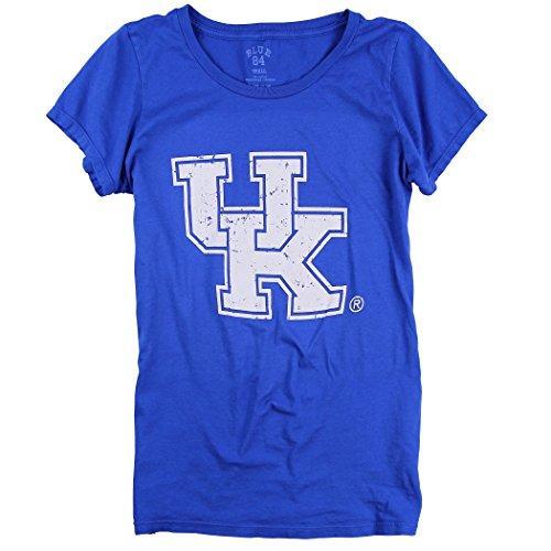 Blau 84Damen Slim Fit NCAA 100% Baumwolle Super Soft Mascot Logo T-Shirt, Damen, Kentucky Wildcats, Large -