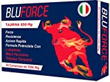 BLUFORCE 300 MG DI TAURINA | 30 COMPRESSE DA 1000 Mg | MADE IN ITALY | CON TRIBULUS MACA PERUVIANA L ARGININA INTEGRATORE ALIMENTARE