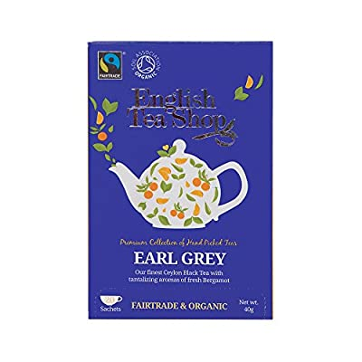 English Tea Shop Thé Noir Earl Grey Bio 20 Sachets 40 g