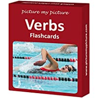 Picture My Picture Verbs Flash Cards: 40 Action Language Photo Cards