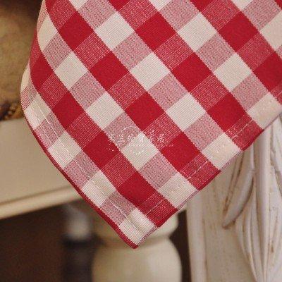BLUELSS 60-140cm de largeur 60-210cm Nano table cloth vérifié pastorale plaid rectangle carré figure accueil cirée 9 tailles 18 couleurs bleu marine,OEM,90x140cm