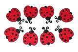 Fai da te–filzen–Feltro forme–Coccinella–Rosso–Circa 3,5/3,0x 0,25cm–8ST–(1X 1set)