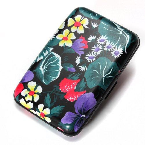 porte-carte-credit-visite-portefeuille-aluminium-rigide-securite-fleur-et-feuille