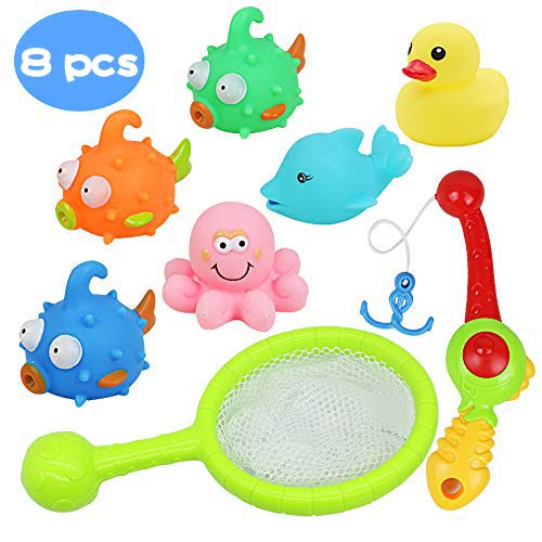 Juguetes de baño flotante con Juegos de pesca para niños...