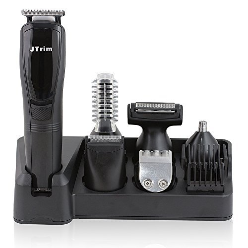 Grooming Kit For Men By JTrim Ultimate ProGroomer 6 in 1 Body Groomer Beard Trimmer Hair Clippers Nose Hair Trimmer JPT-PG600 Jay's Products