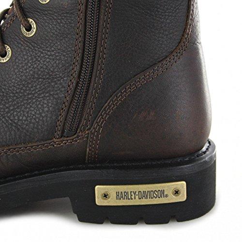 FB Fashion Boots Harley-Davidson D93493 Chipman Brown Schnürstiefel für Herren Braun Biker Boots Brown