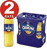2 x 6 Orangina Limonade gelb 1Liter - 12 PET Flaschen in Originalkisten MEHRWEG