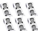 5 Rollen Donald Trump Toilettenpapier Rollen Spaß Klopapier WC-Papier Toilette Papier