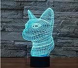 Lampada Da Tavolo A Luce Catarifrangente 3D Led In Acrilico Con Led Per La Decorazione Domestica