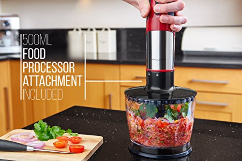 Andrew James Food Processor Red