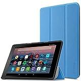 Infiland Fire 7 Tablet Hülle Case- Slim Cover Lightweight Schutzhülle Tasche mit Standfunktion und Auto Schlaf/Wach Funktion für Fire 7 (7-Zoll, 7. Generation - 2017),Hellblau