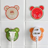 TAOtTAO Socket Plug Cartoon Fruit Socket Haken Netzkabel Lagerregal Starke Sticky Hook Plug Unterstützung (A)