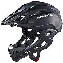 Cratoni - Casco integral Freeride C-Maniac, talla L/XL, color negro mate