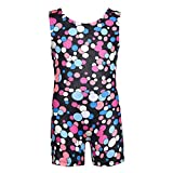 Qlan Girls Gymnastics Leotards sans manches Ballet Brillant impression radium spot brillant 3-11Y