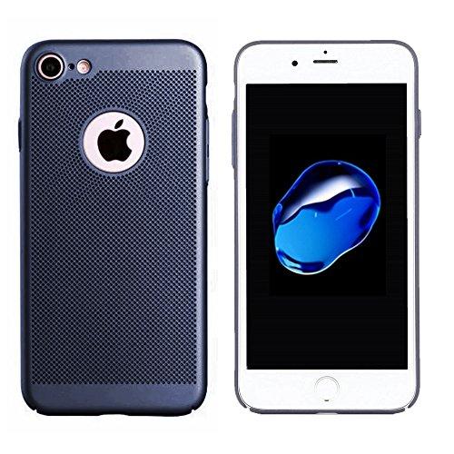 iPhone 7 Ultra Thin Hard Handyhülle Rot, Leichte Premium Thin PC Tasche, Rückseitige Abdeckung gegen Fingerabdrücke, Breathable Air Mesh Hole Hülle, Anti-Scratch, Schutzhülle, BackCover Case Blau
