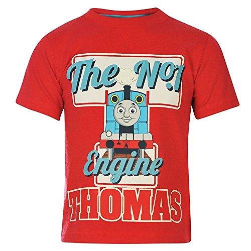 Thomas und Seine Freunde - Kinder T-Shirt Lokomotive rot Gr. 92-104, Doppelgröße:98/104 -