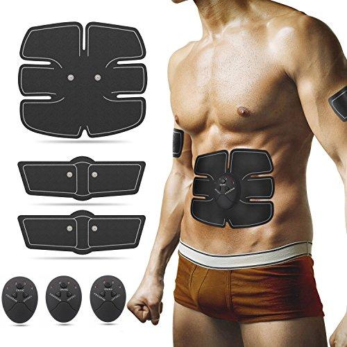 Entrenador de abdominales/tonificador muscular/estimulador de tonificación por electroestimulación - Unisex - Equipo de fitness para abdomen/brazos/piernas/pecho/hombros/espalda