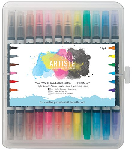 artiste-watercolour-dual-tip-pen-brush-and-marker-pack-of-12
