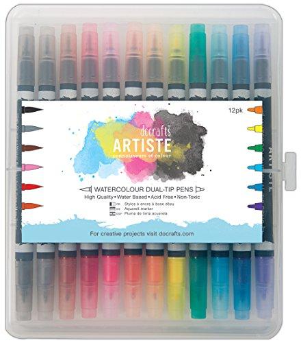 artiste-watercolour-rotuladores-de-dos-puntas-12-unidades-multicolor