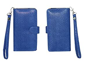 J Cover A9 Anya Leather Carry Case Cover Pouch Wallet Case For one plus three Eoxtic Blue