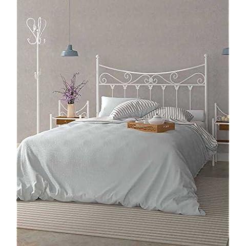 Cabecero de forja nacional Modelo Coín, color Negro para cama de 150 cms. (Varios colores y medidas