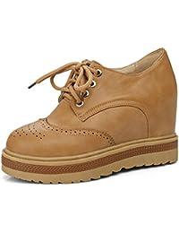 Zanpa Mujer Casual Tacon de Cuna Zapatos Increasing Heels
