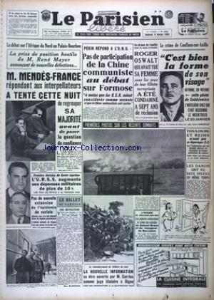 PARISIEN LIBERE EDITION DE PARIS (LE) [No 3235] du 04/02/1955