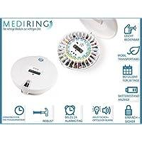 Mediring® Automatik Tablettenbox mit Erinnerungs-Alarm – Pillendose Careousel Advance erinnert zur richtigen Zeit... preisvergleich bei billige-tabletten.eu