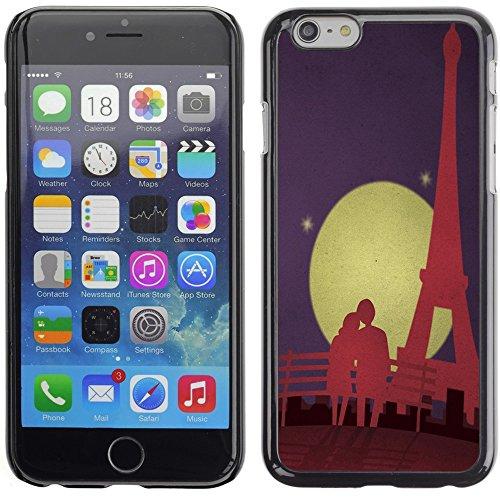 Graphic4You Paris At Night Skyline View Postkarte Ansichtskarte Design Harte Hülle Case Tasche Schutzhülle für Apple iPhone 6 Plus / 6S Plus Design #7