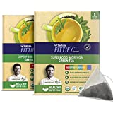 Saffola FITTIFY Gourmet Green Tea Instant Beverage Mix, Assorted Pack, 2 X 12.5 g