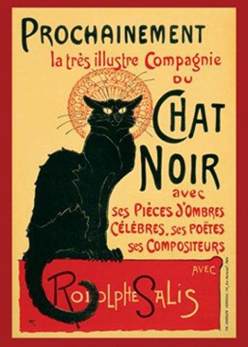 1art1 1469 Theophile Alexandre Steinlen - Tournee du Chat Noir Poster (91 x 61 cm) (Noir Poster La Chat)