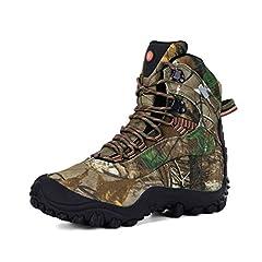 Idea Regalo - XPETI Scarponi da Montagna, Trail Scarpe da Trekking Impermeabili Uomo Mid Alpinismo Calzature Escursionismo Tecnica Montagna Basse Backpacking Walking Camouflage 43.5