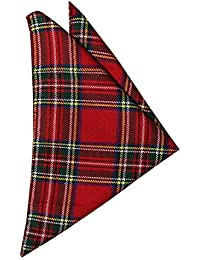 Burns Night Scottish Red Tartan Handkerchief