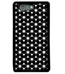 Fuson Premium Stars Pattern Metal Printed with Hard Plastic Back Case Cover for Sony Xperia Z4 Mini