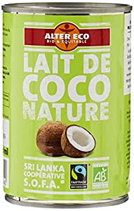 Alter Eco Lait de Coco Nature Bio et Equitable 400 ml