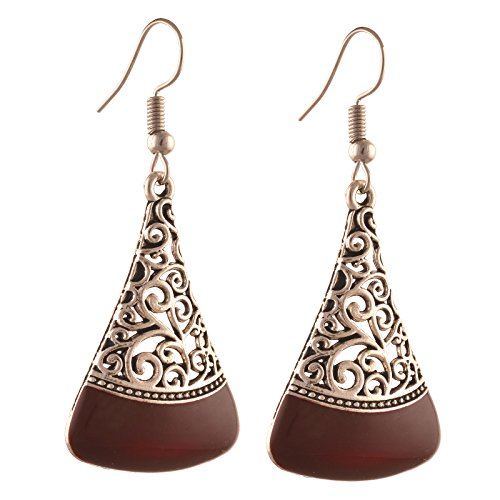 Zephyrr Jewellery Ethnic Hook Earrings with Cutwork design for Girls and Women  available at amazon for Rs.168