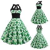 Malloom-Bekleidung Grüner Leprechaun Kobold Gnom St. Patricks Day Damen Kostüm st Patricks Tag Kobold Lepricorn + Tasche & Strümpfe Kostüm Kleid Outfit