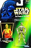 C-3PO Protocol Droid with Realistic Metalized Body Green Card Star Wars Power of the Force von Hasbro