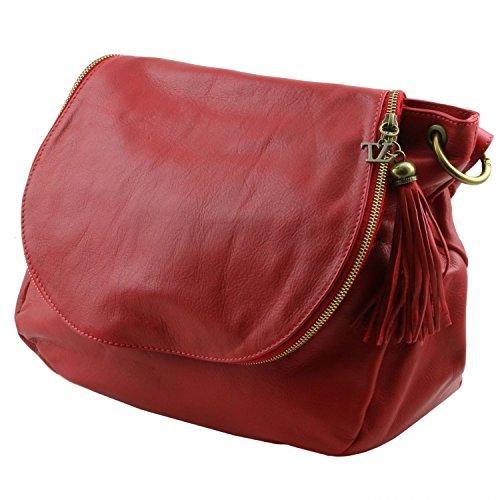 Tuscany Leather TL Bag Borsa morbida a tracolla con nappa Rosso