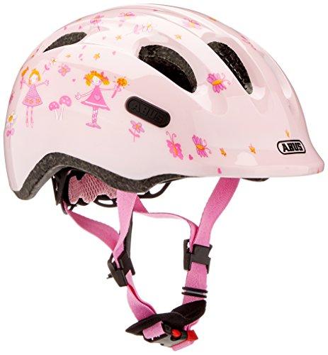 Abus Smiley 2.0 Casque pour Vélo Fille, Rose Princess, 45-50 cm