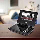 Akai A51007 Portable DVD Player 270 Degree Swivel Screen, 7 inch - Black