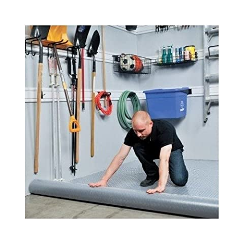 PVC Flooring - Tough Protective Vinyl Floor Roll ideal for the Garage, Workshop, Basement or Storage Room. Non-Porous so Protects against spills - Easy to fit. VersaRoll PVC Floor Protection is a Hard Wearing Mat Alternative to Rubber or Cork.