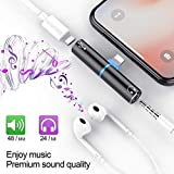 Lilypin 2 in 1 3.5 mm Mini Portable Charging Metal Splitter Audio Charger