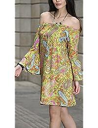 Amazon.it  vestiti donna vintage eleganti - Giallo   Gonne   Donna   Abbigliamento 88d23694470